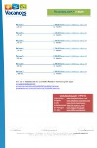 Vacances prices 2